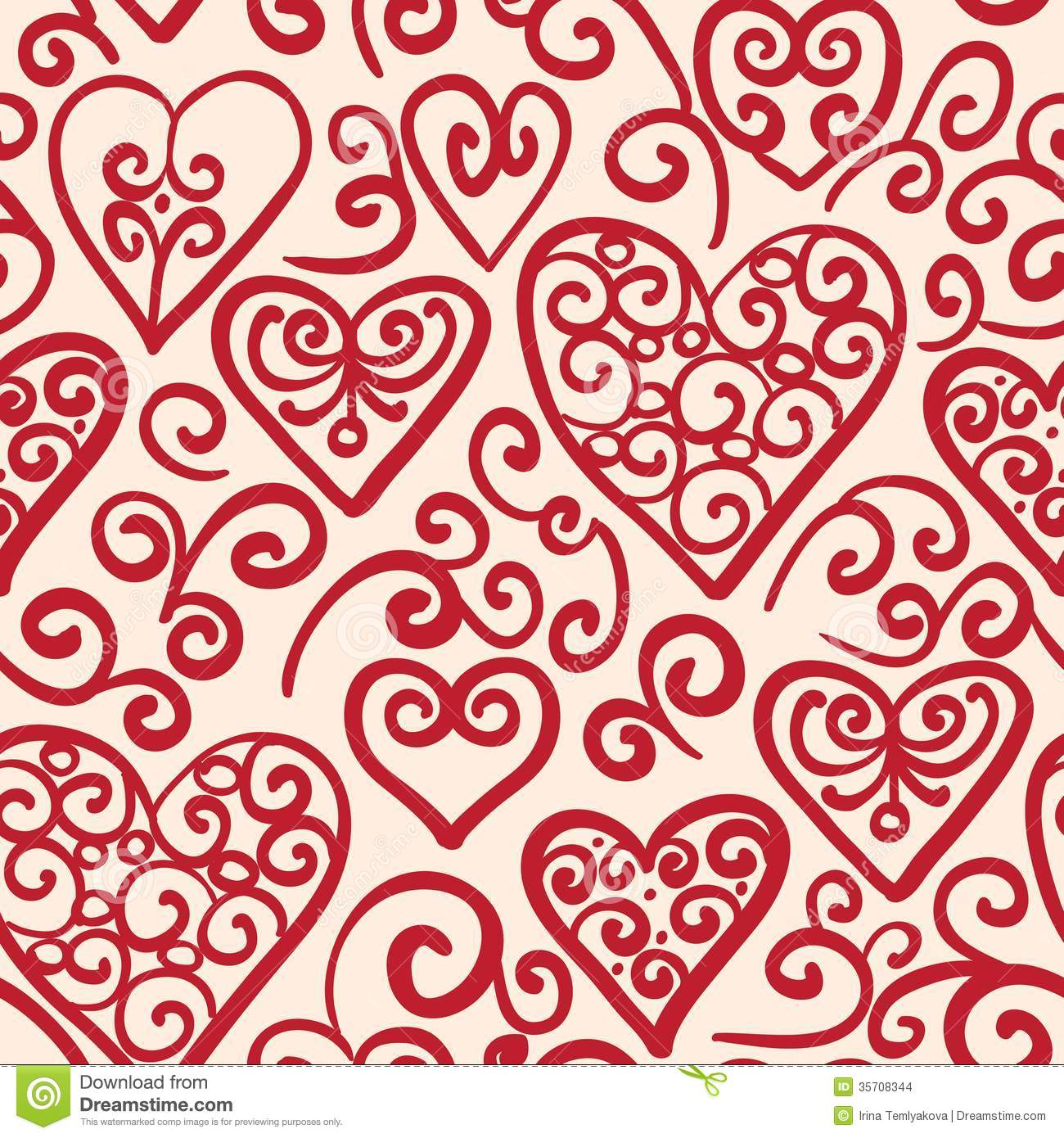 Seamless Pattern With Hearts Stock Images Image 35708344