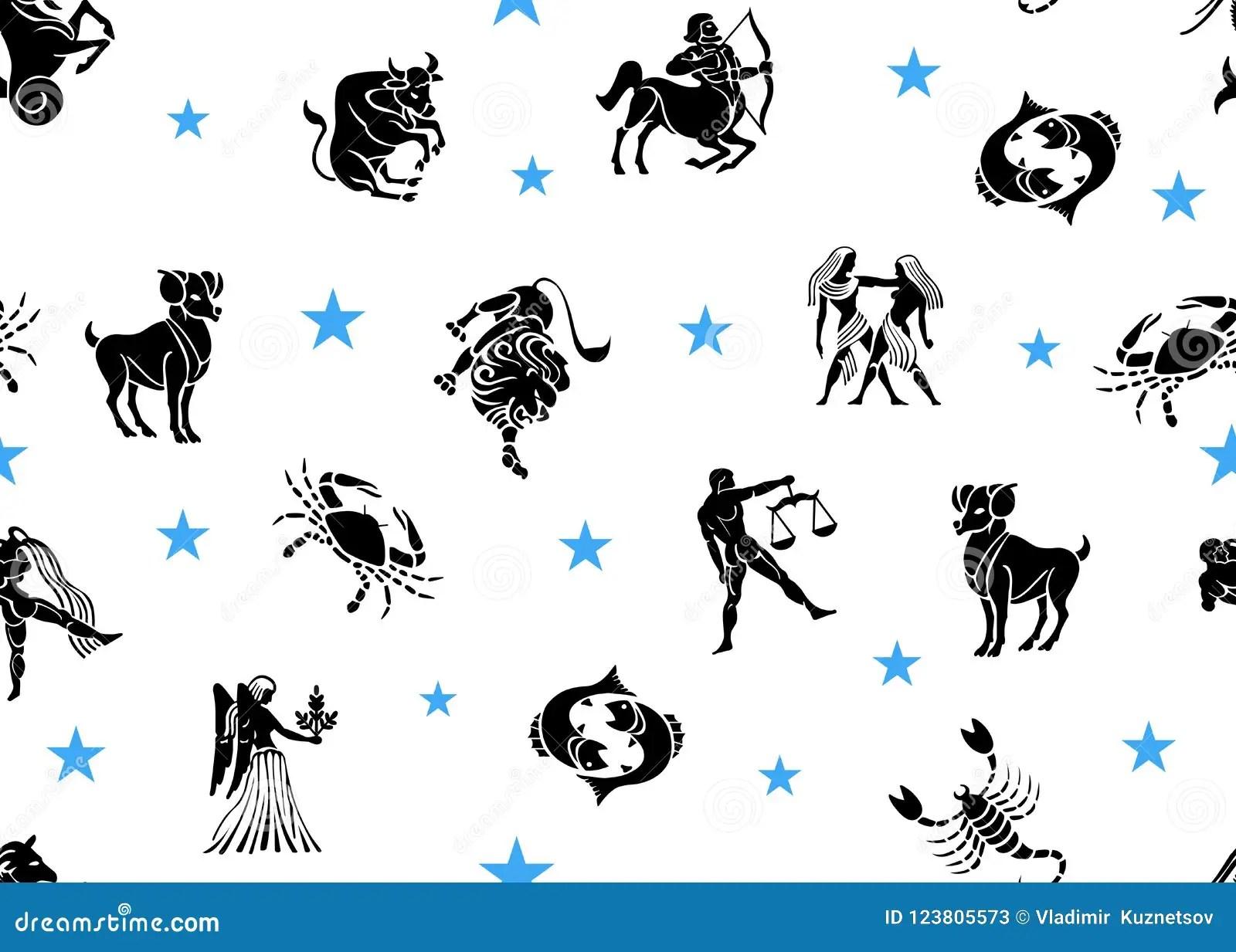 Astrological Set Galaxy Cartoon Vector
