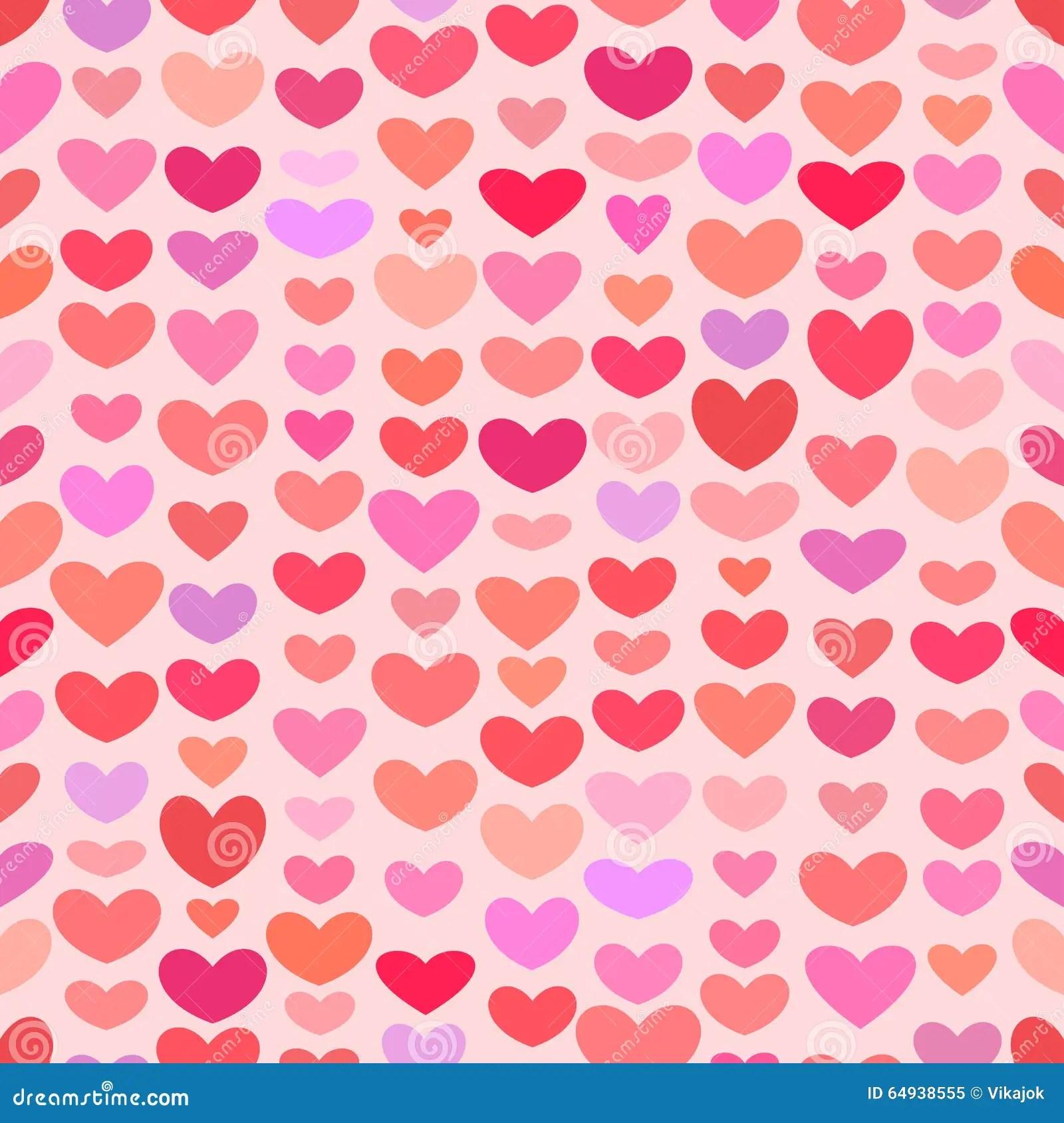 Seamless Saint Valentine Heart Pattern Stock Vector