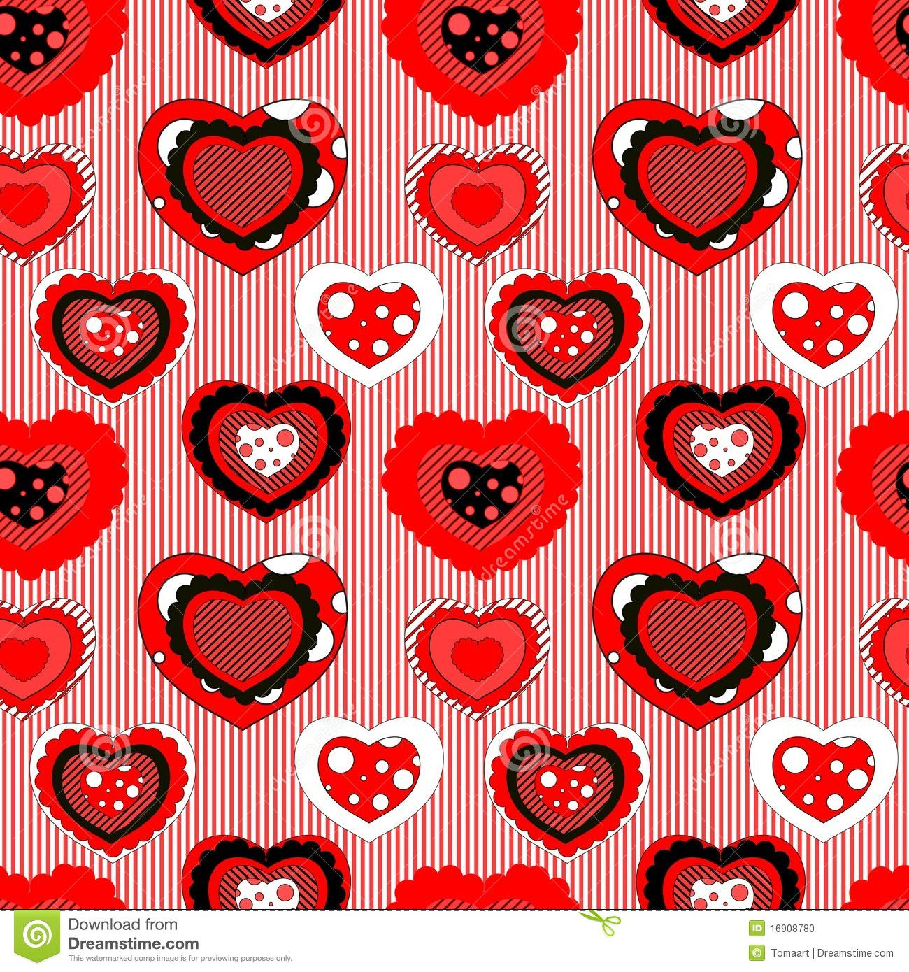 Seamless Valentine Pattern Stock Vector Illustration Of