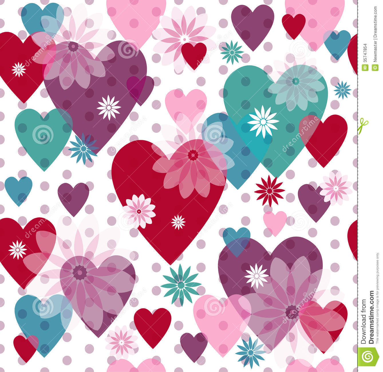 Seamless Valentine Pattern Stock Images