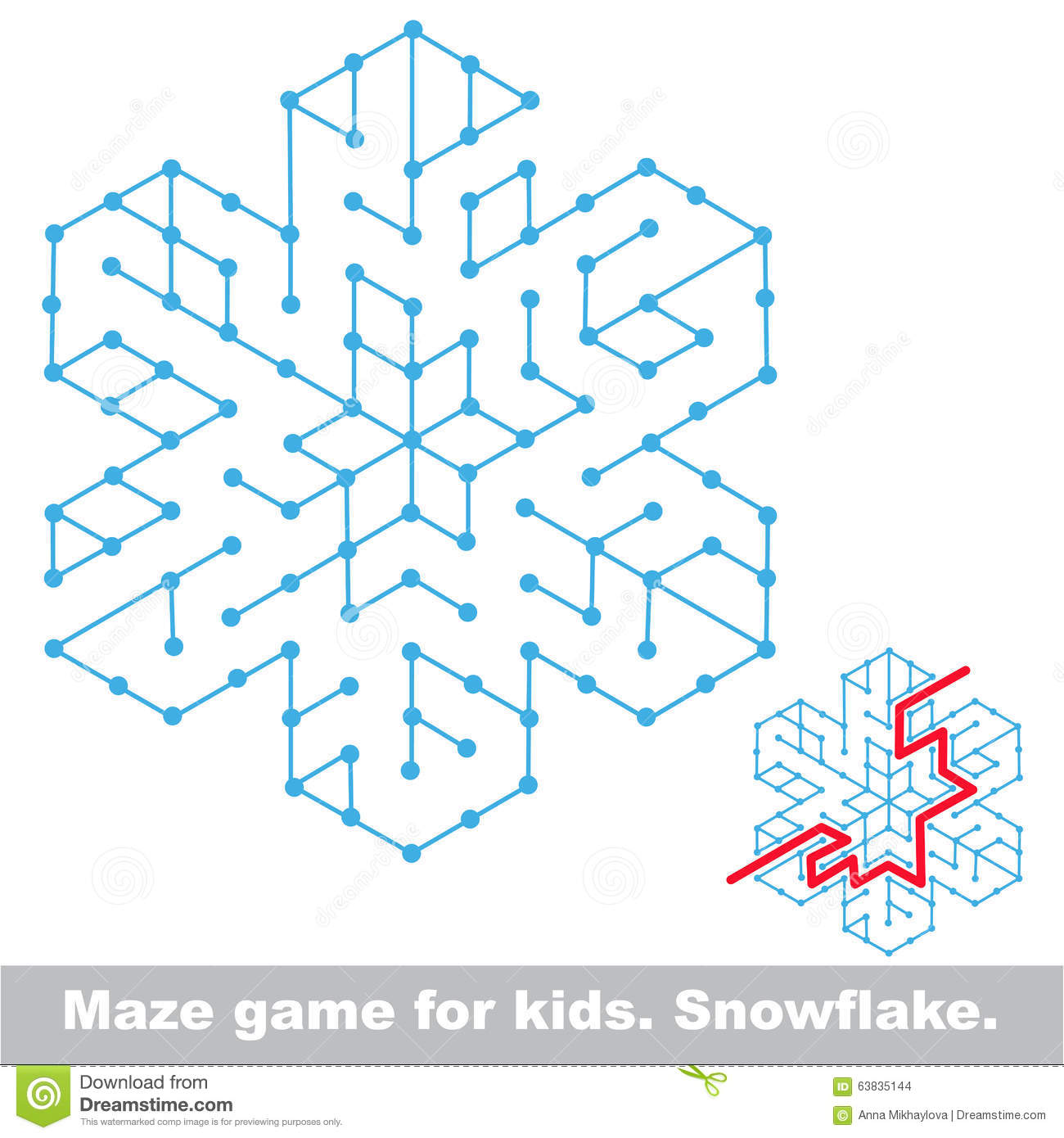 Search The Way Kid Maze Game Stock Vector