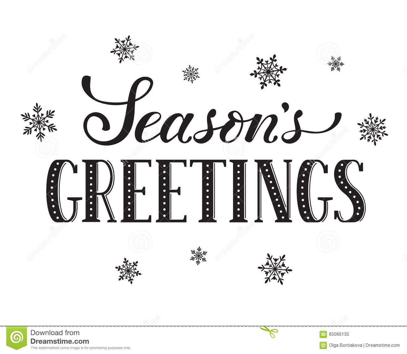 Seasons Greetings Card Stock Vector Illustration Of