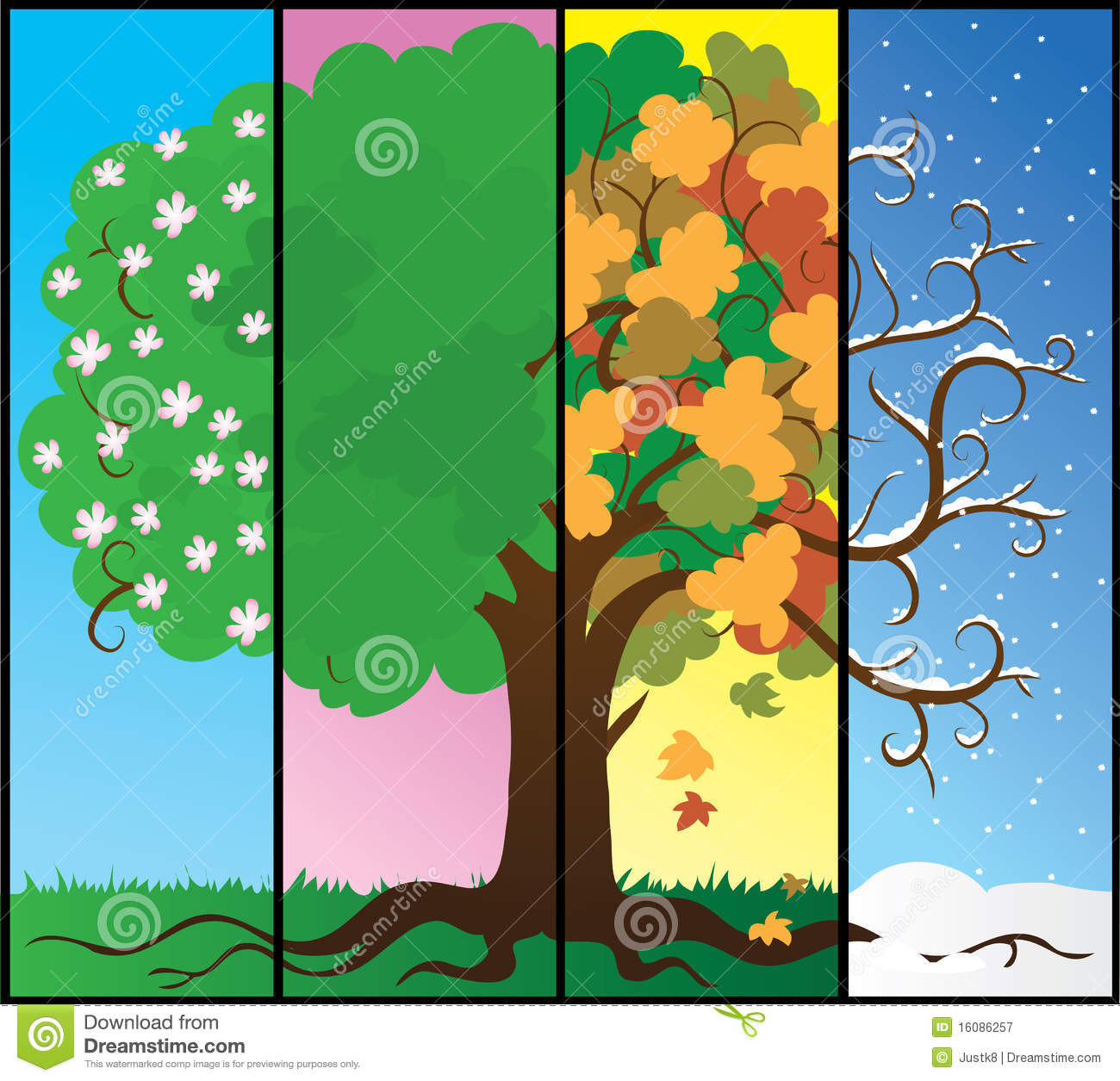 Seasons Tree Royalty Free Stock Photography
