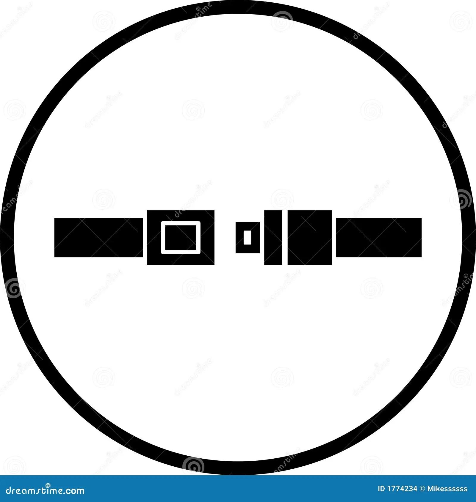 Seat Belt Vector Symbol Stock Images