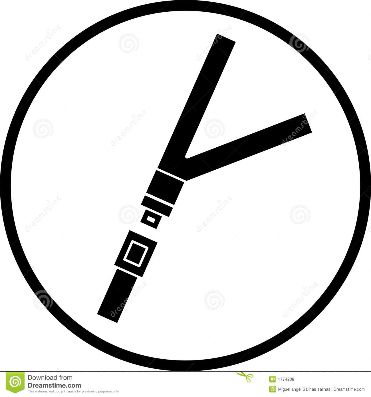 Seat Belt Vector Symbol Stock Vector Image Of Belt Precaution