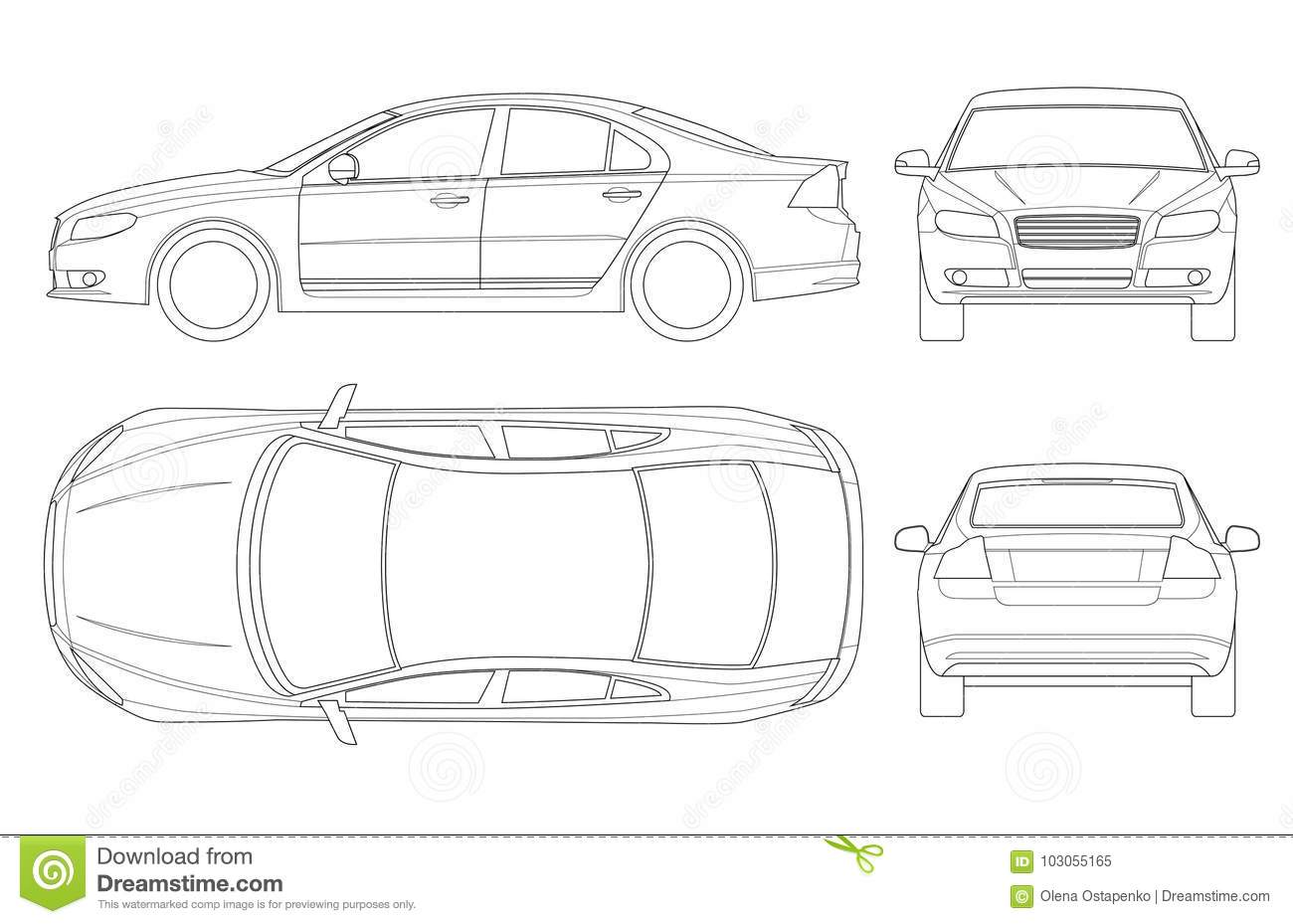 Car Top View Cartoons Illustrations Amp Vector Stock Images