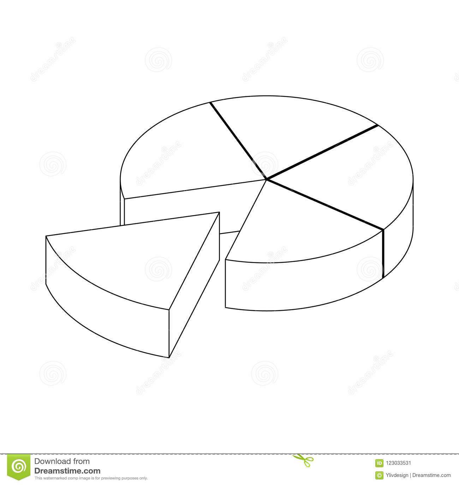 Segmented Diagram Icon Isometric 3d Style Stock