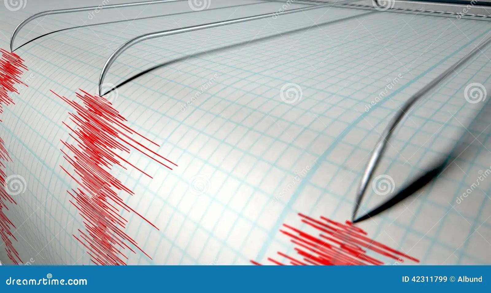 Seismograph Earthquake Activity Stock Image