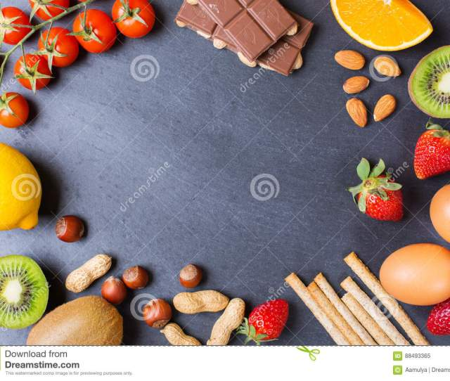 Selection Of Allergy Food Healthy Life Concept
