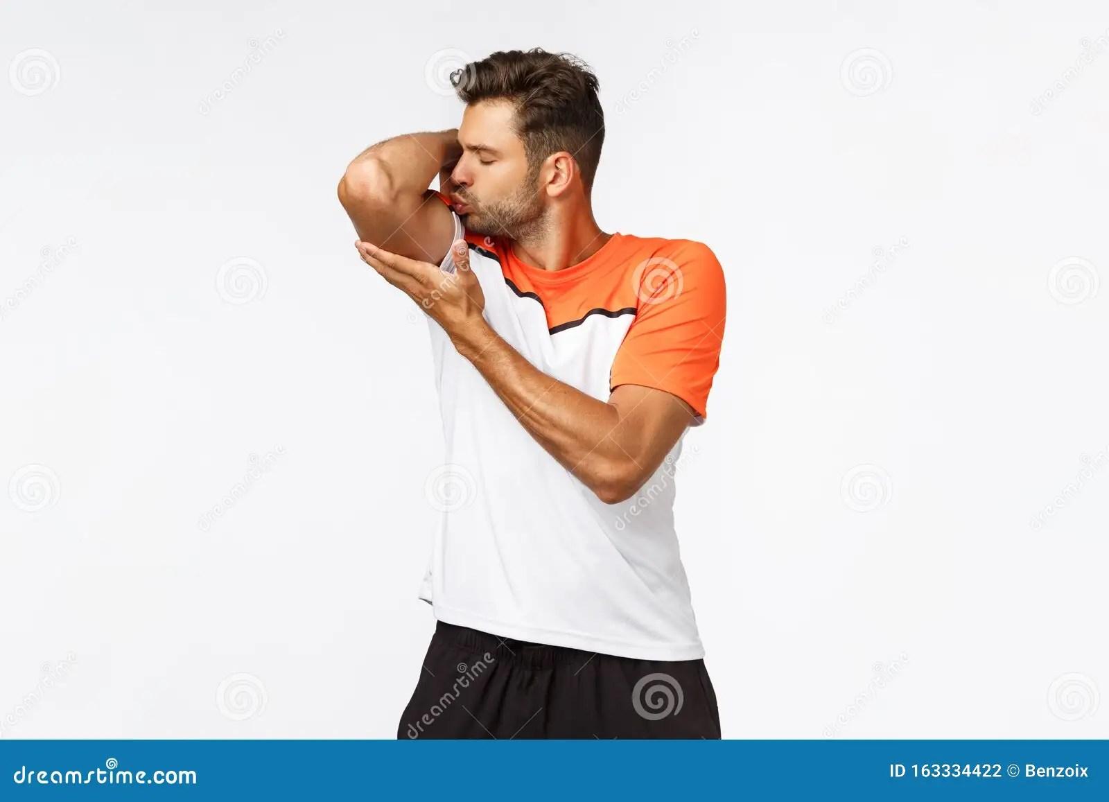 Self Centered Handsome Macho Man Sportsman In Activewear