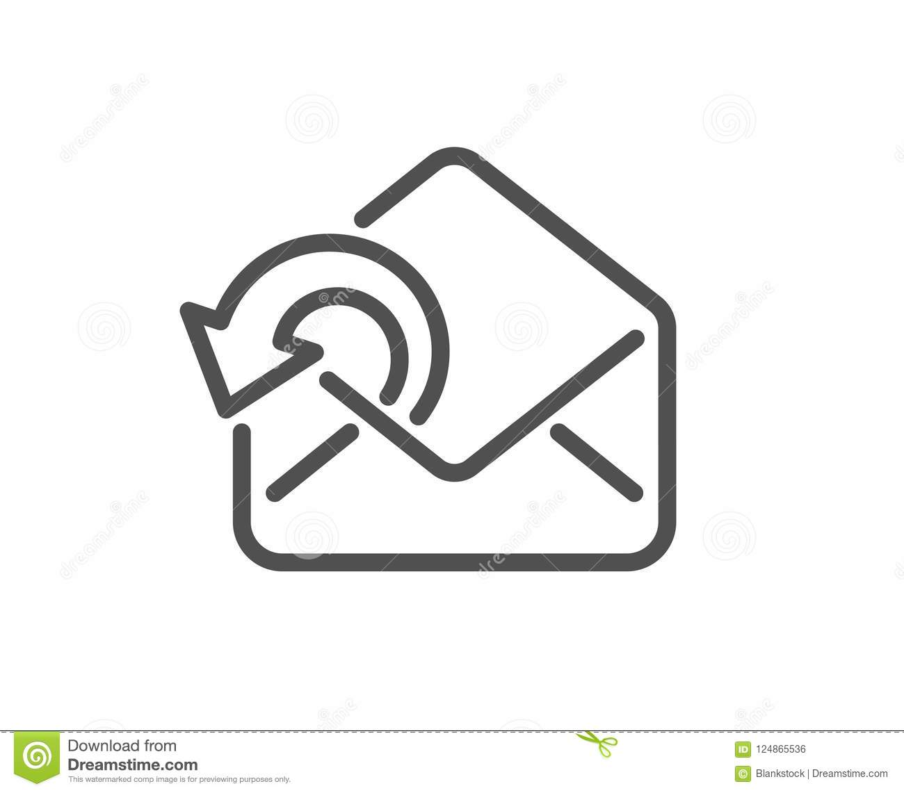 Send Mail Download Line Icon Sent Messages Correspondence