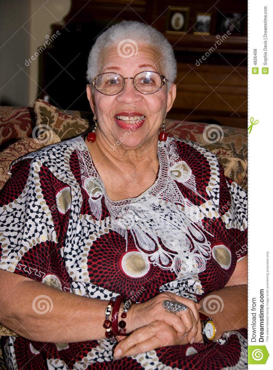 Senior African American Woman Stock Photo Image 4826468