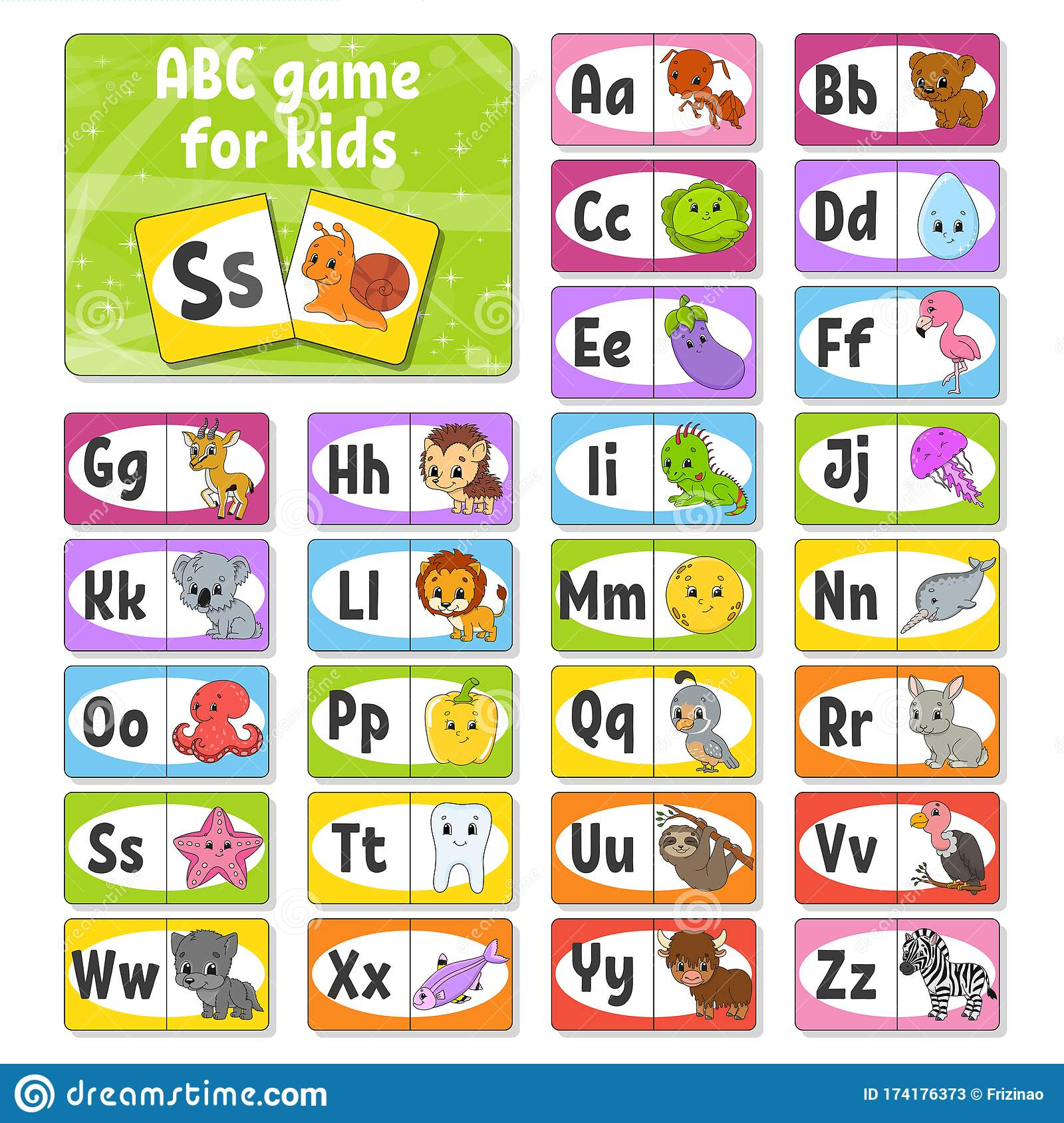Set Abc Flash Cards Alphabet For Kids Learning Letters