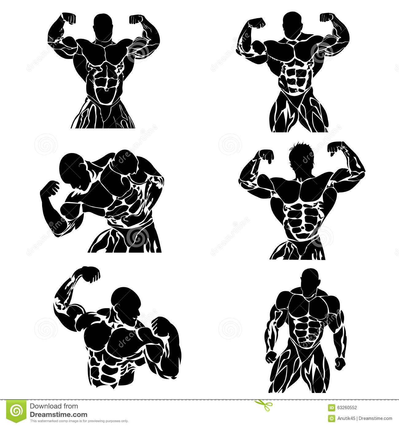 People With Different Body Mass Cartoon Vector