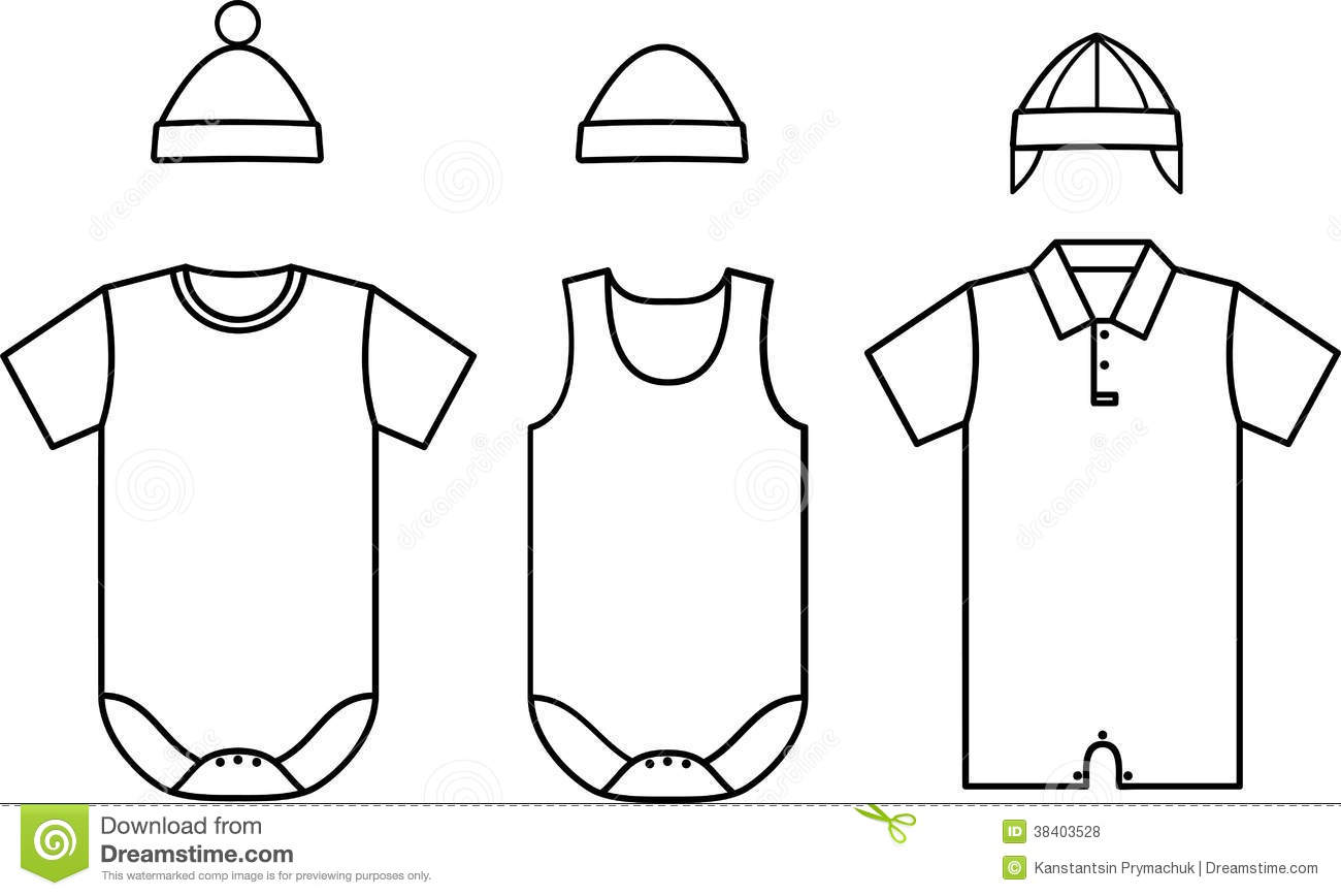 Set Of Child Baby Wear Vector Stock Vector
