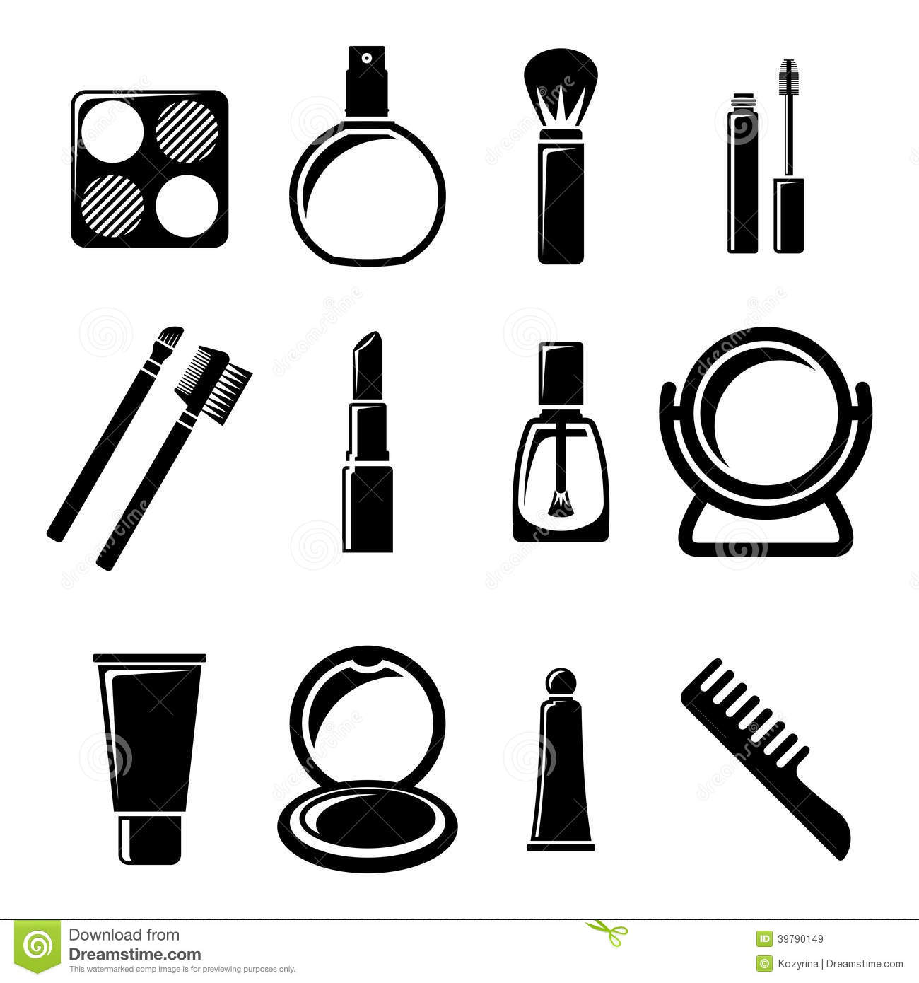 Set Of Cosmetics Icons Stock Vector