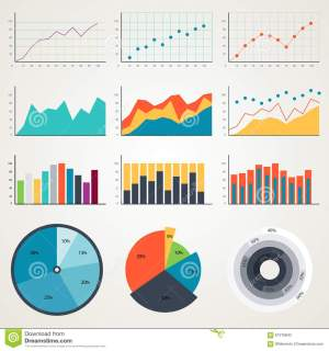 Set Of Elements For Infographics, Charts, Graphs, Diagrams