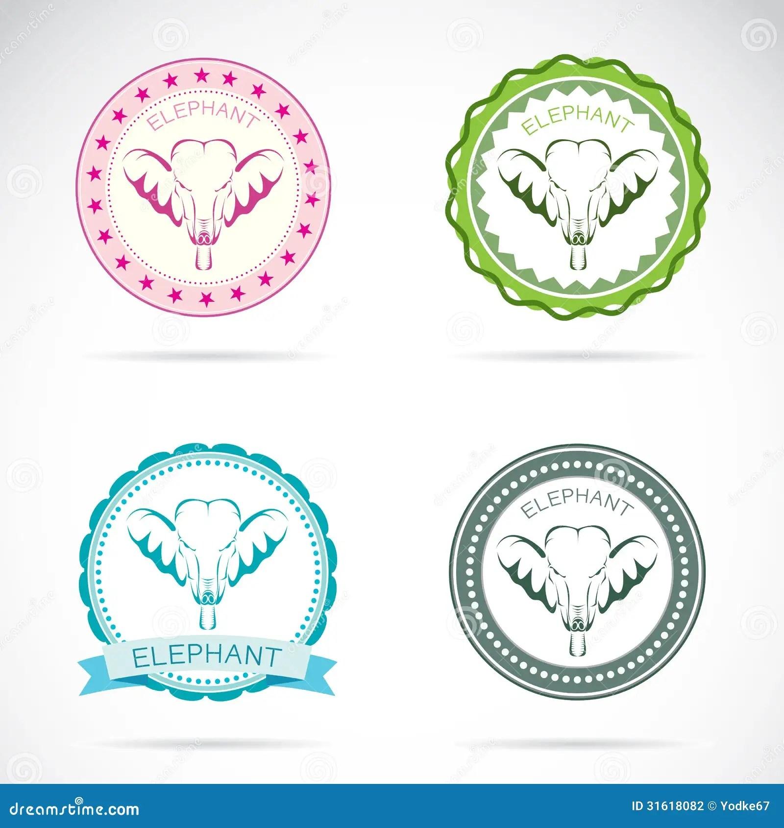 Set Of Elephant Label Stock Photography