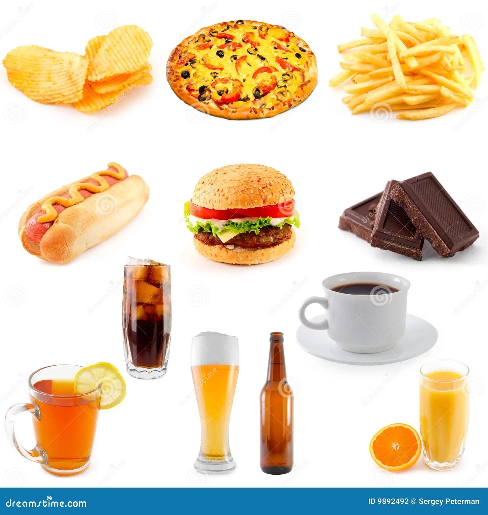Set Of Fast Food Stock Photo Image Of Hamburger Burger