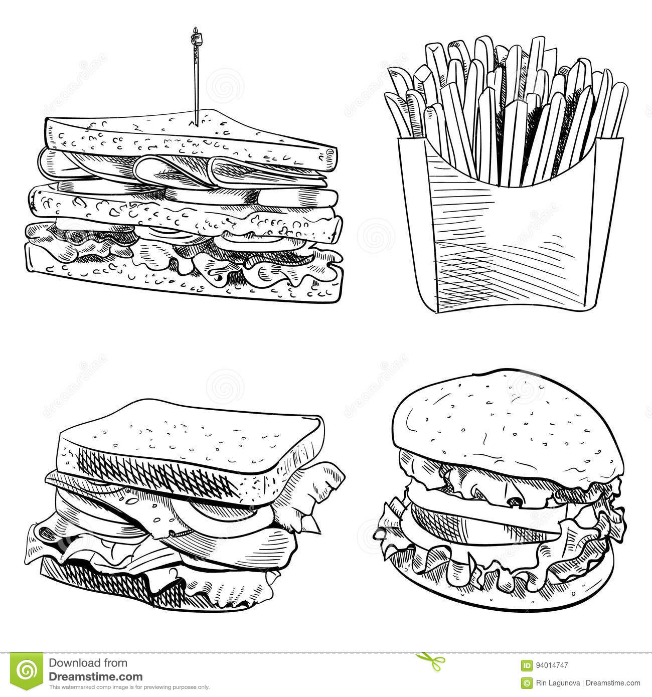 Sandwich Cartoons Illustrations Amp Vector Stock Images