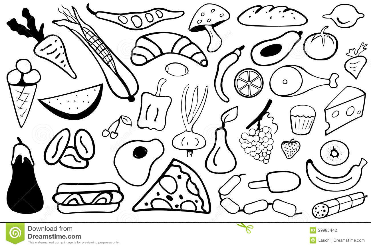 Food Doodle Stock Vector Image Of Cherry Croissant