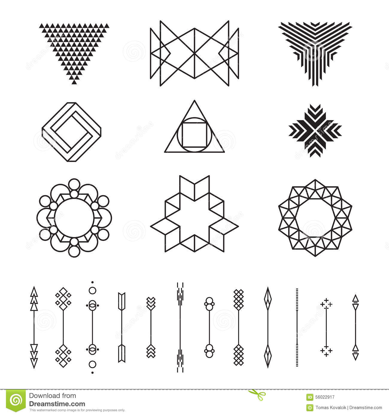 Set Of Geometric Shapes Vector Illustration Isolated