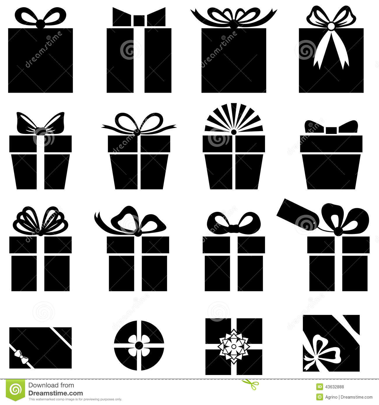 Set Of Gift Icon Stock Vector Image 43632888