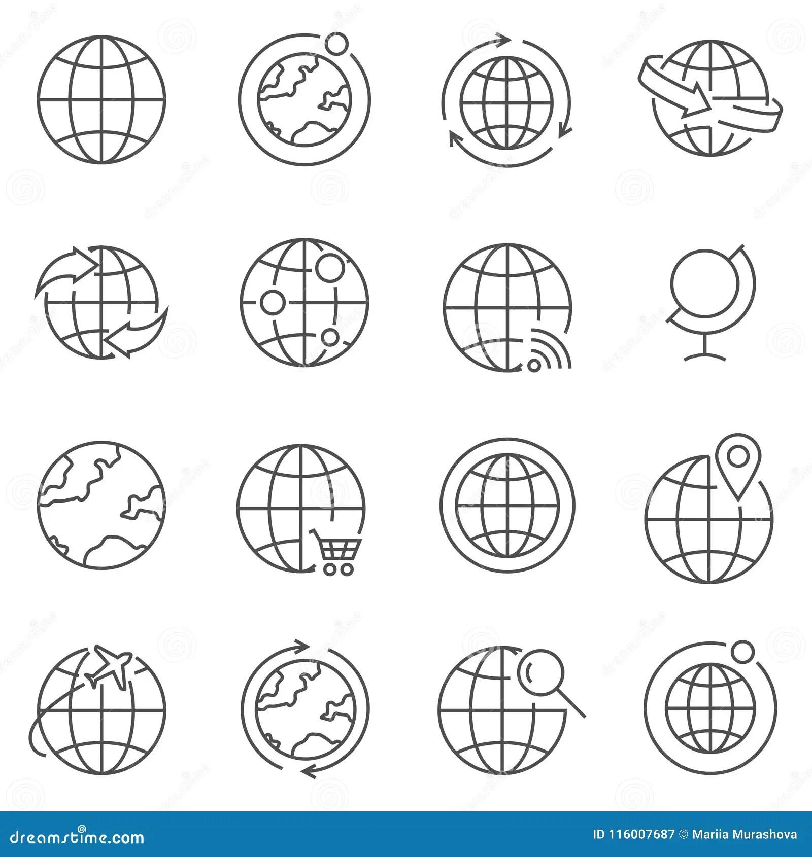 Australia Icons Set Vector Illustration