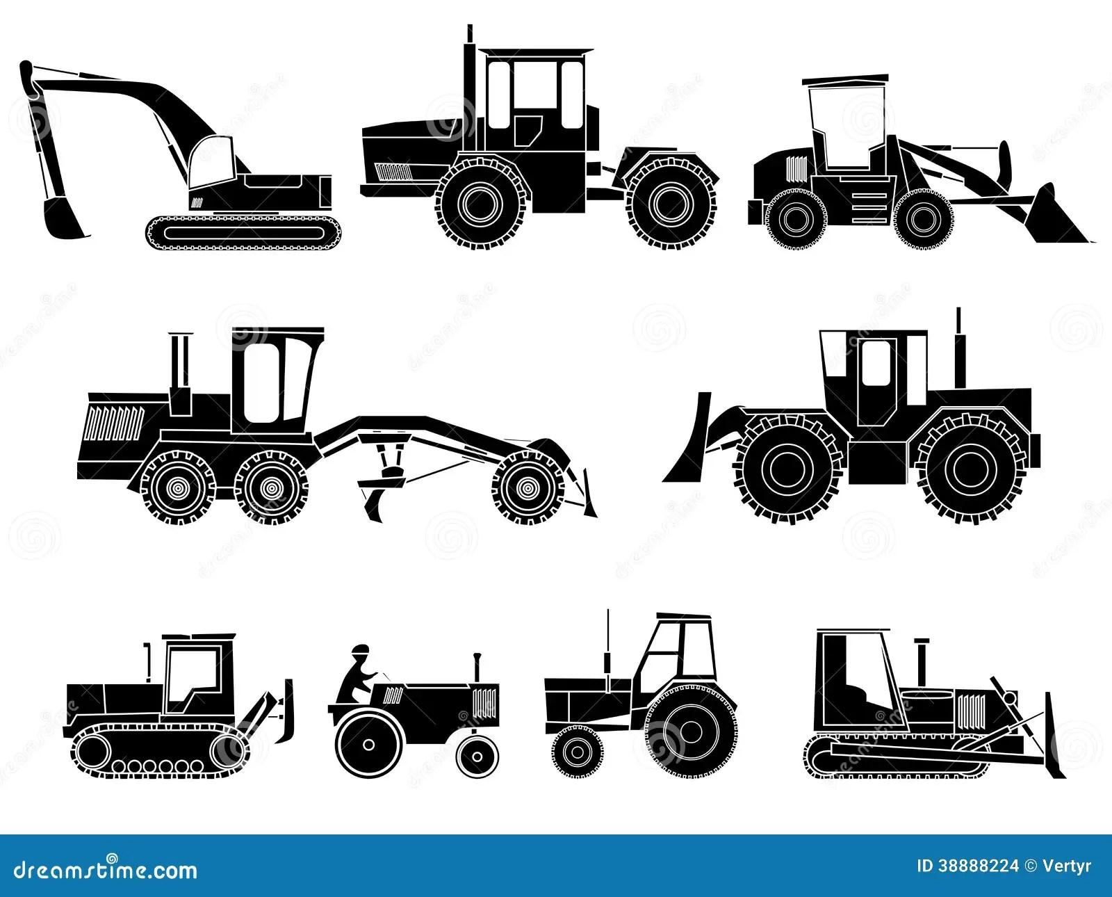 Set Of Icon Heavy Machines Stock Vector