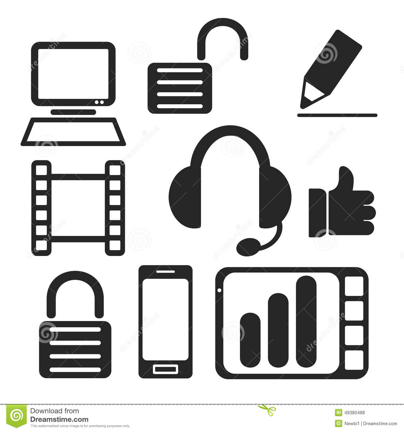 Set Of Interface Web And Mobile Icons Vector Stock