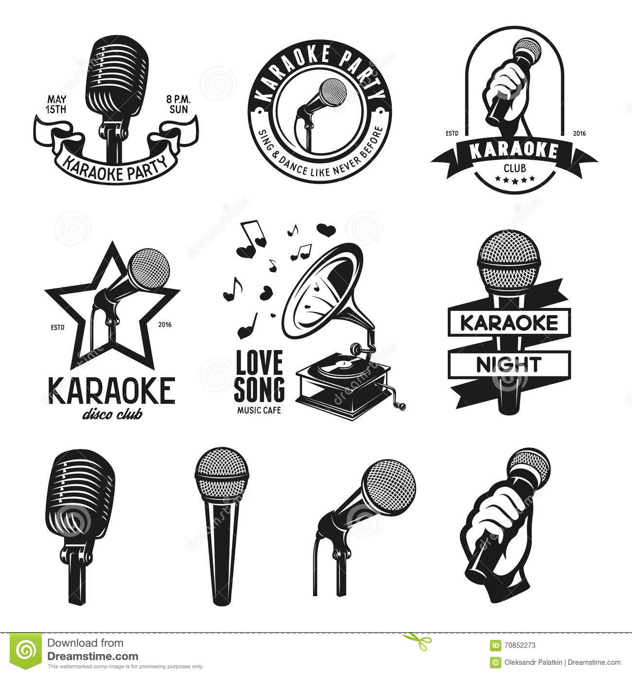 Vintage Karaoke Bar Poster Hand Holding A Microphone In A