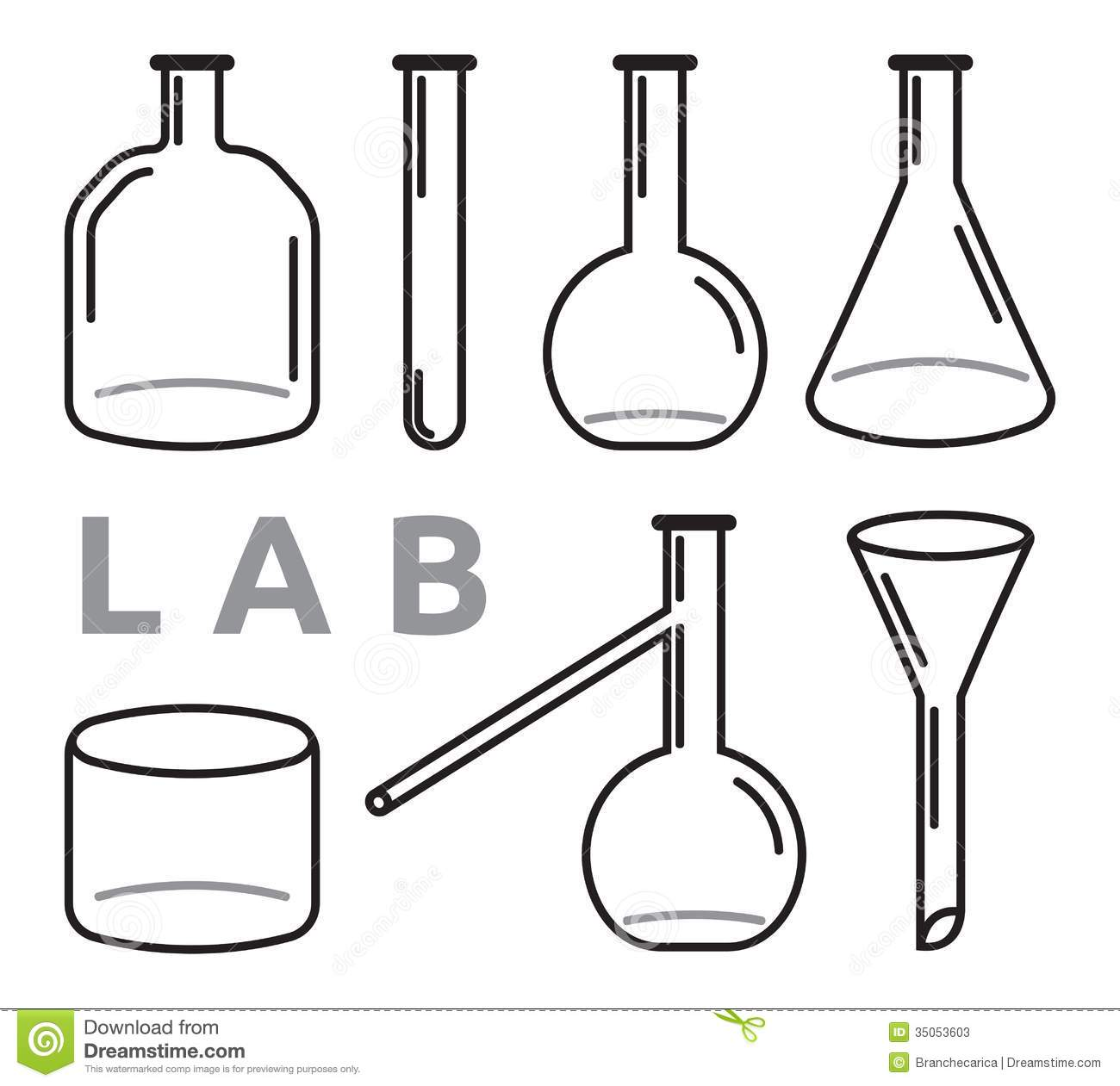 Set Of Laboratory Equipment Stock Vector