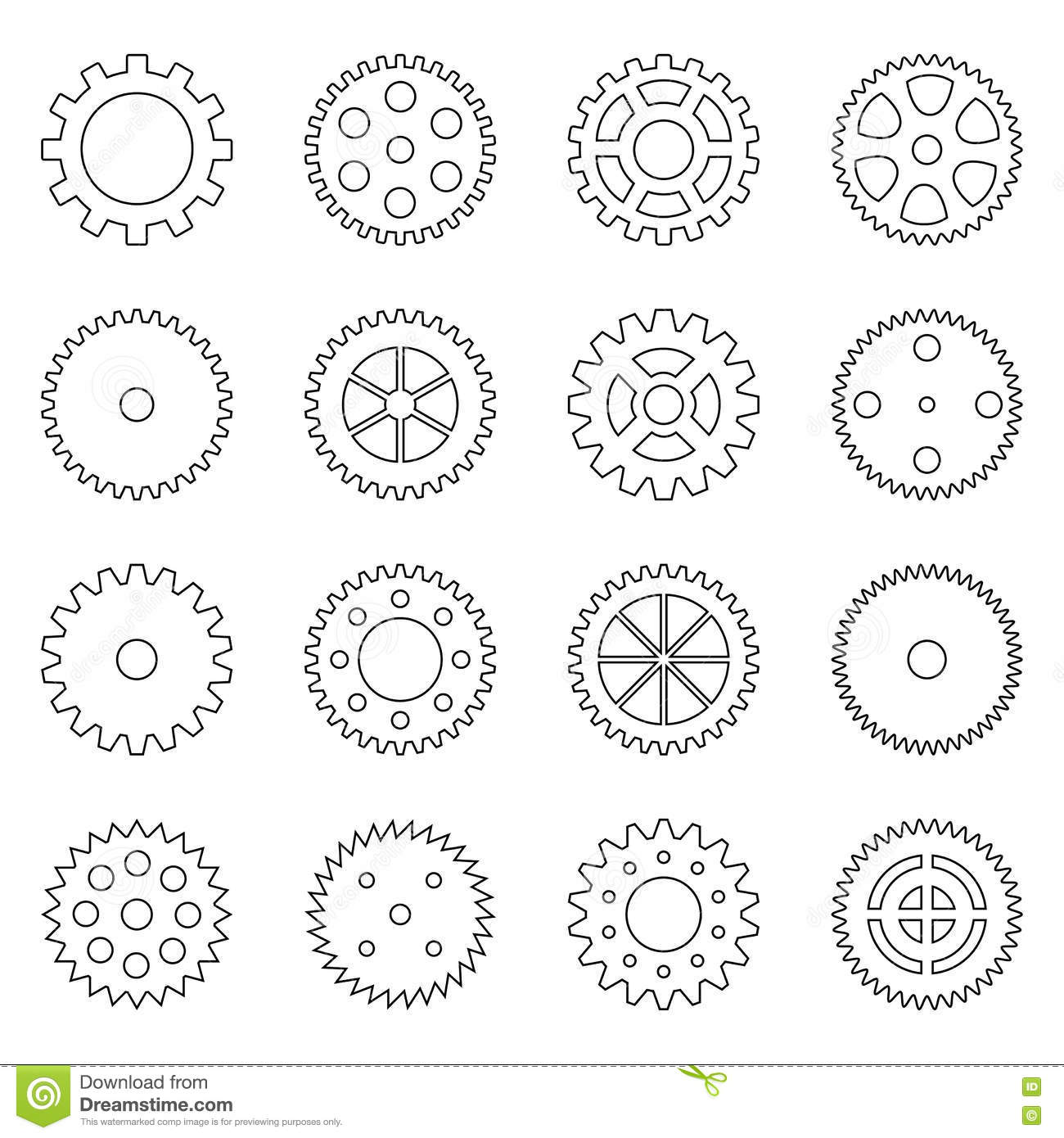 Vector Of Gear And Arrow Up Logo Combination Mechanic And