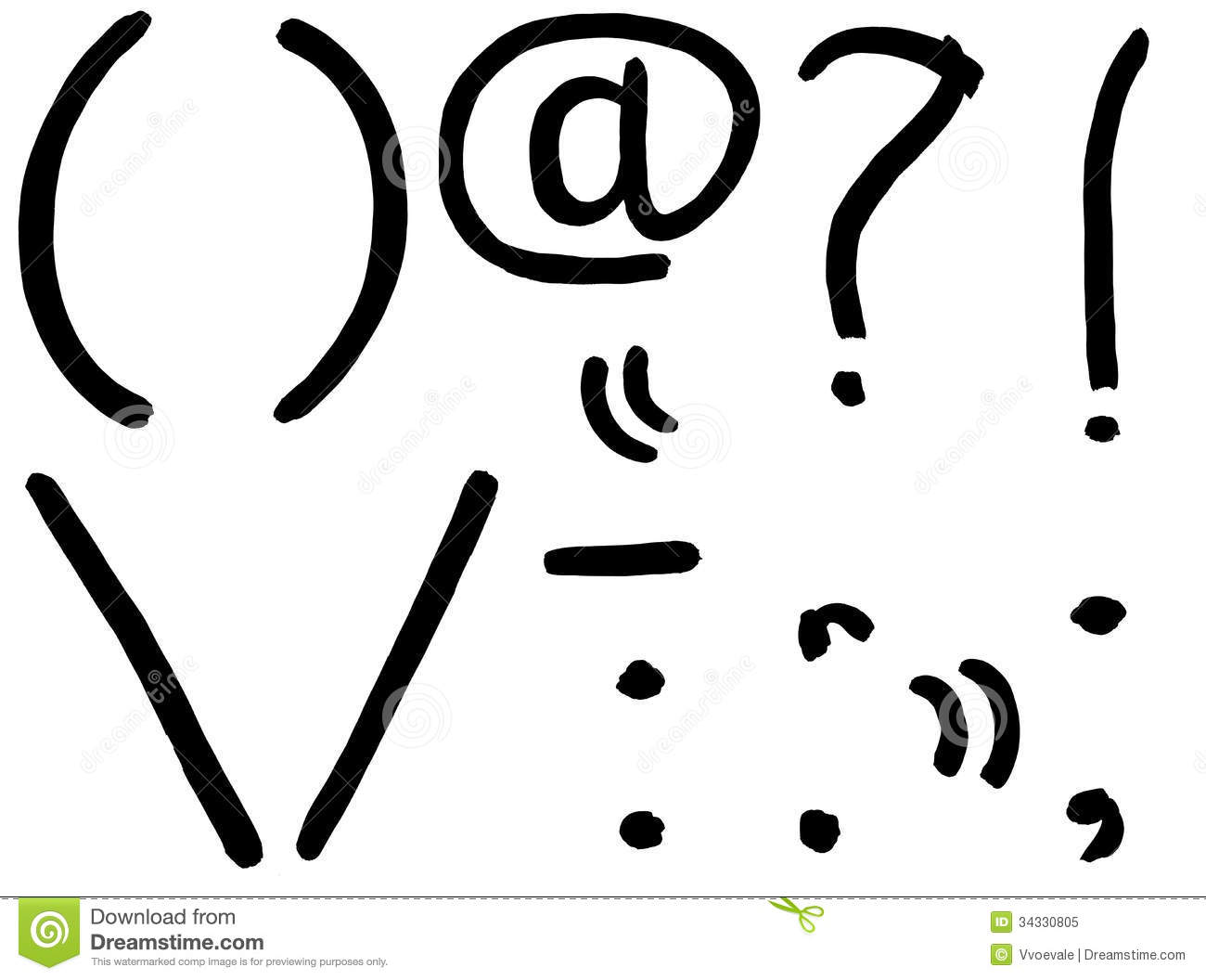 Set Of Punctuation Marks Royalty Free Stock Photography