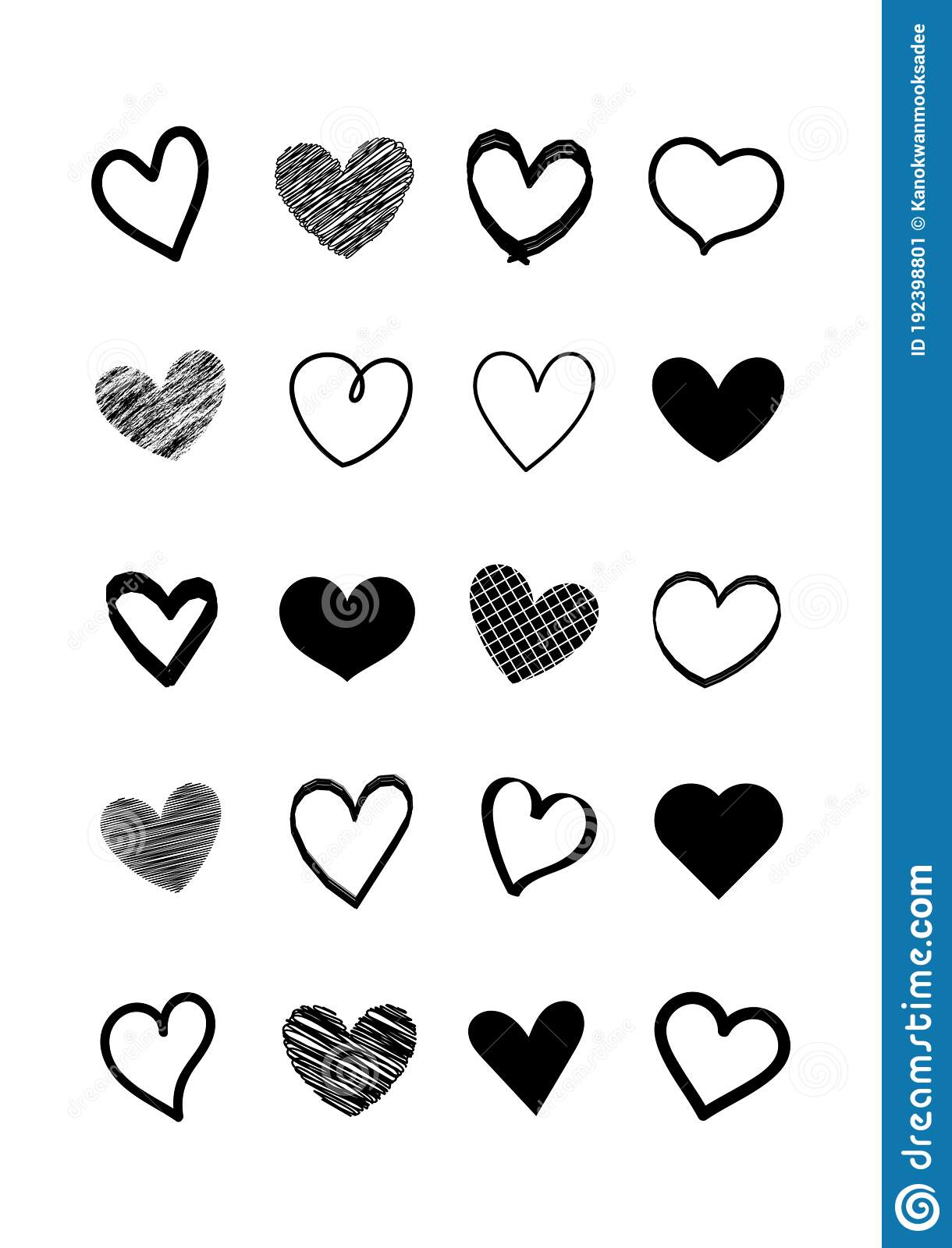 Vector Valentine Card With Heart Shapes