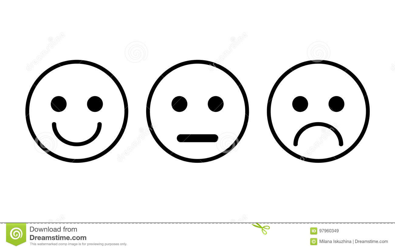 Straight Line Smiley Face Clip Art : Smiley straight sad face
