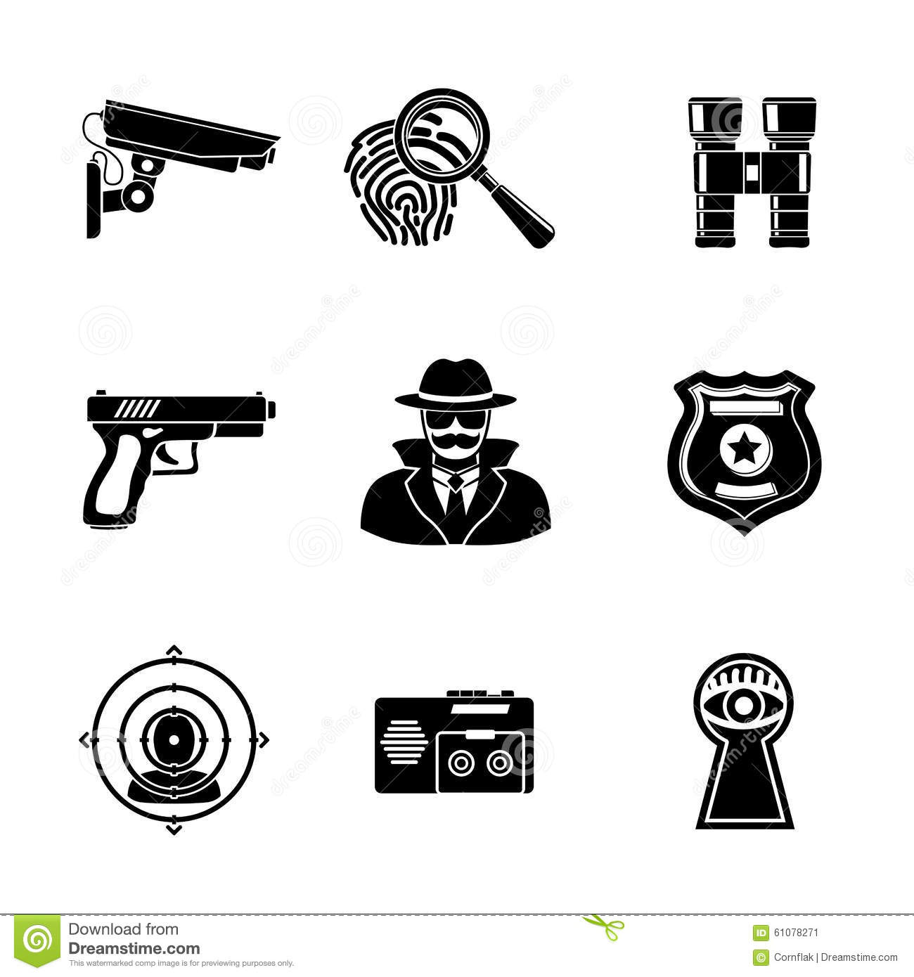 Set Of Spy Icons