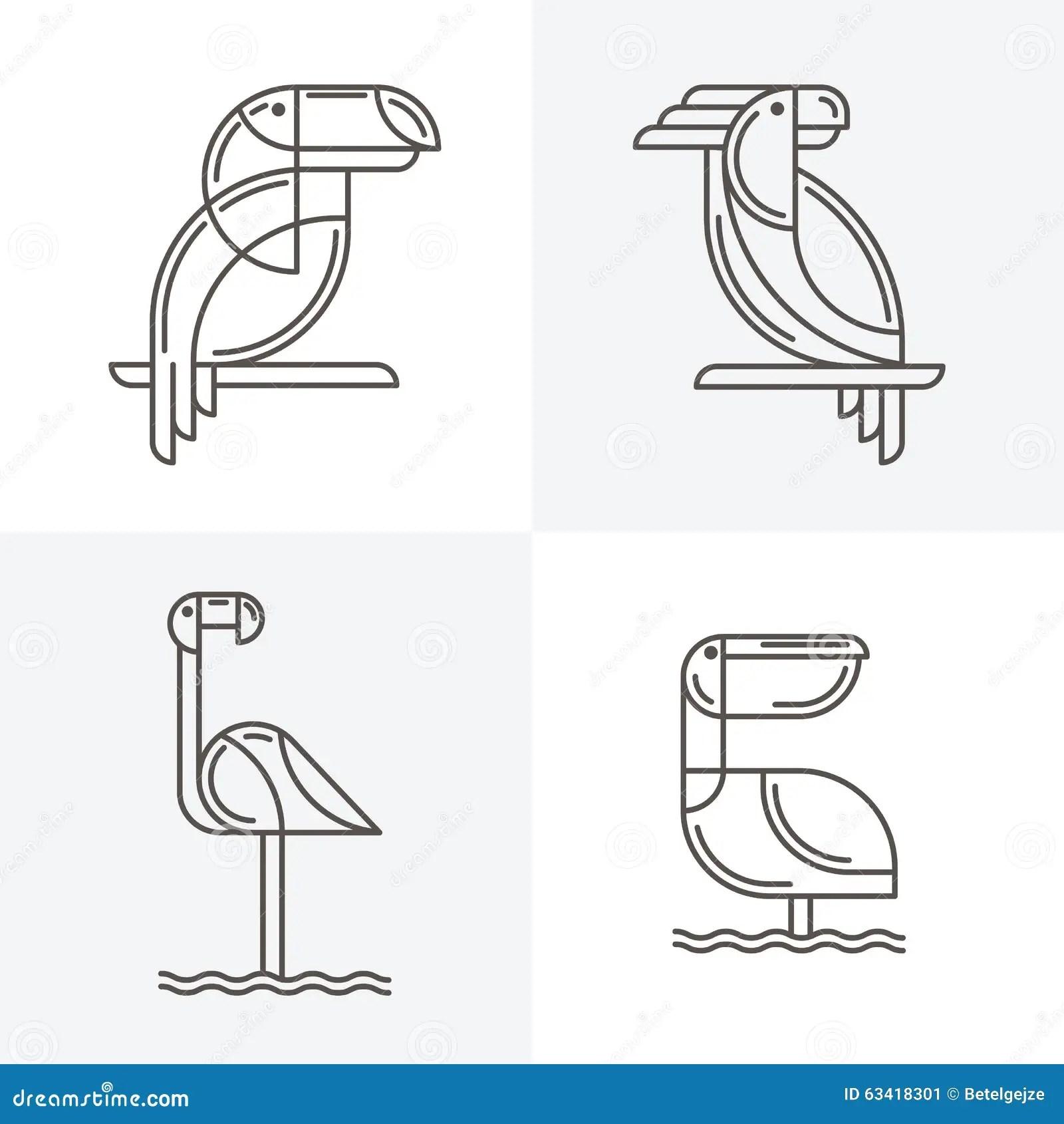 Toucan Logo Cartoon Vector