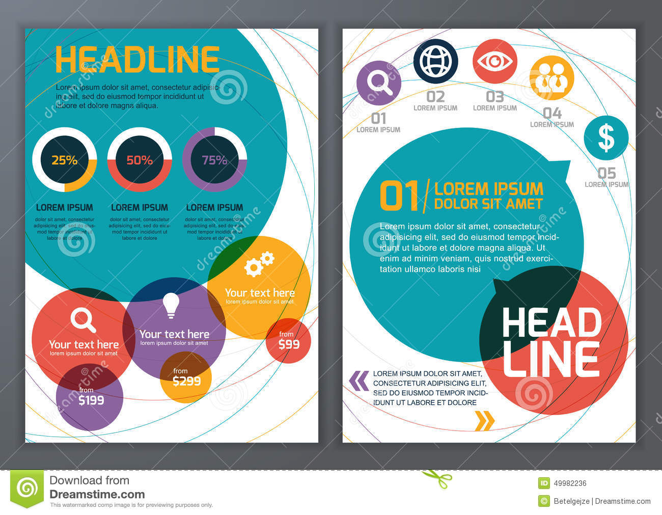 Set Of Vector Template For Brochure Flyer Poster