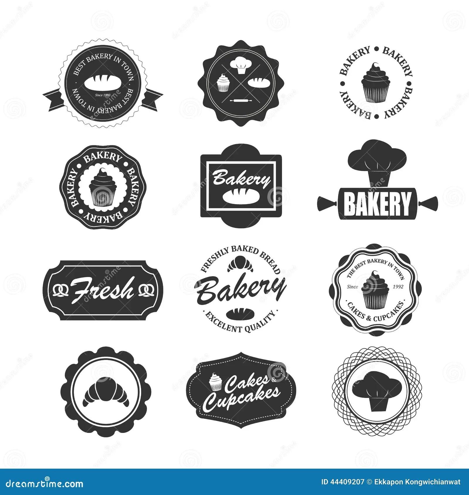 Set Of Vintage Bakery Labels Badges And Design Elements