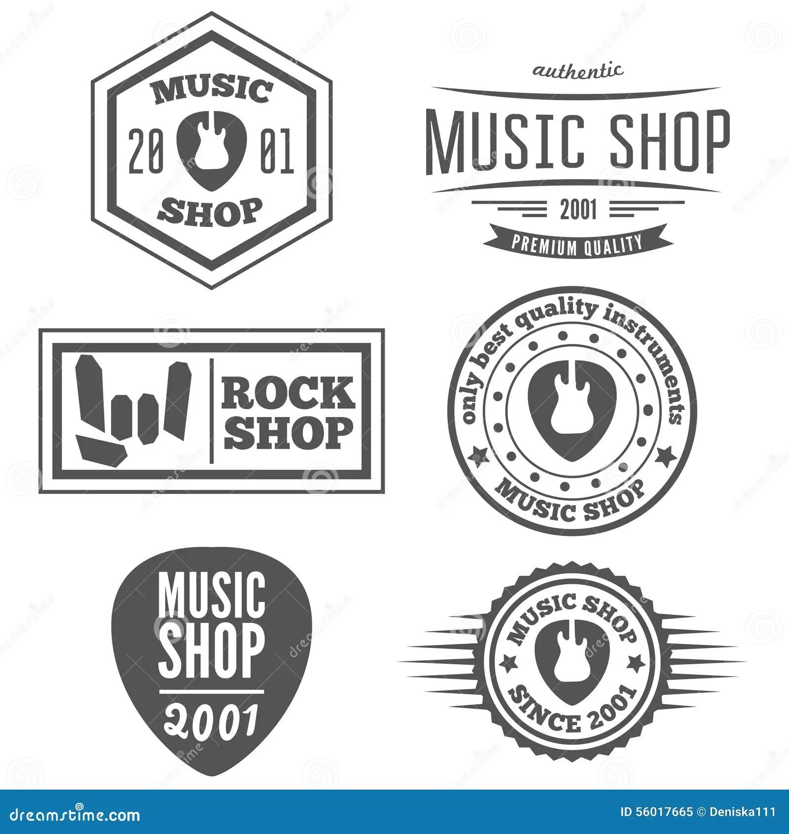 Set Of Vintage Logo Badge Emblem Or Logotype Stock