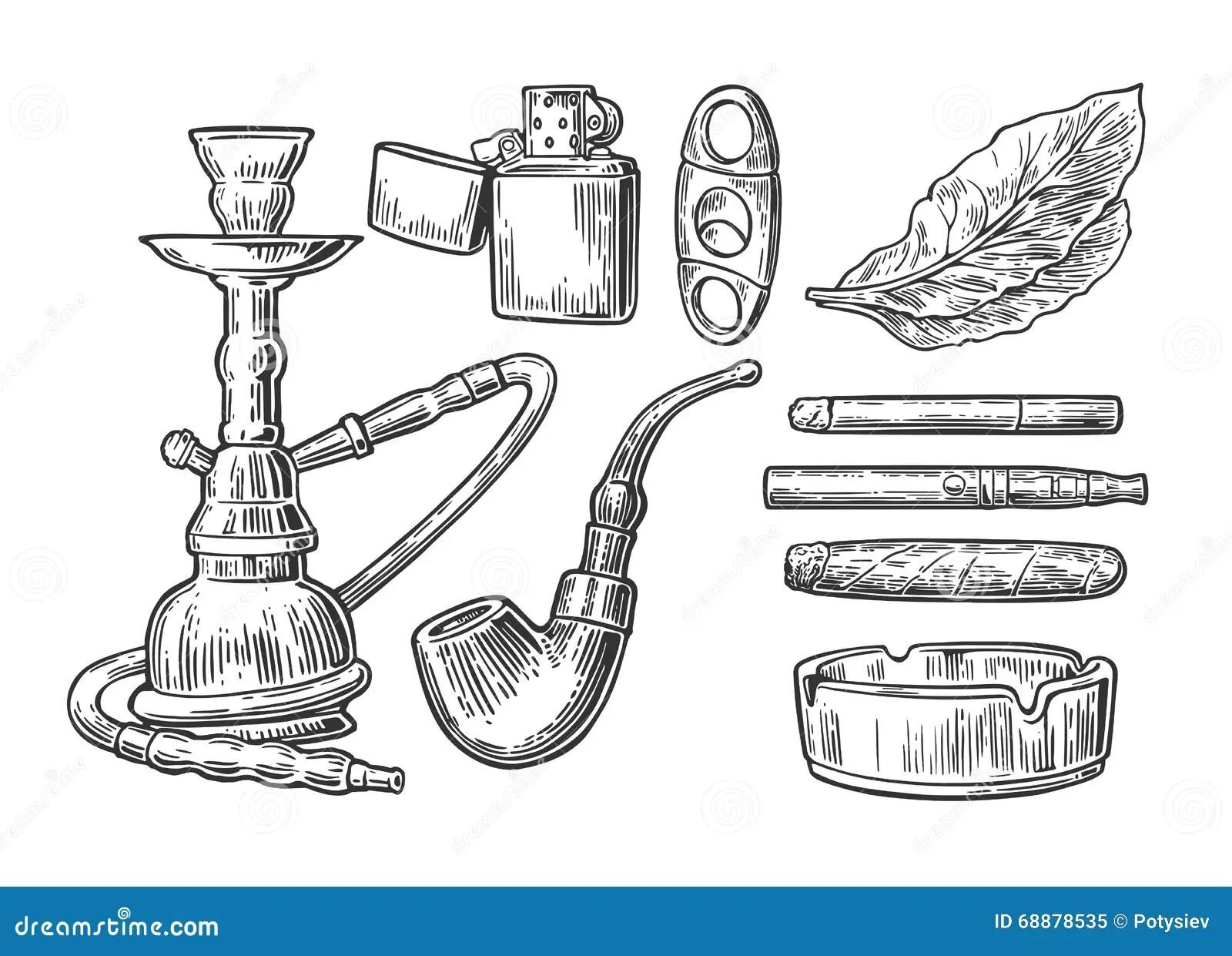 Smoking Cigar In An Ashtray Royalty Free Stock Image