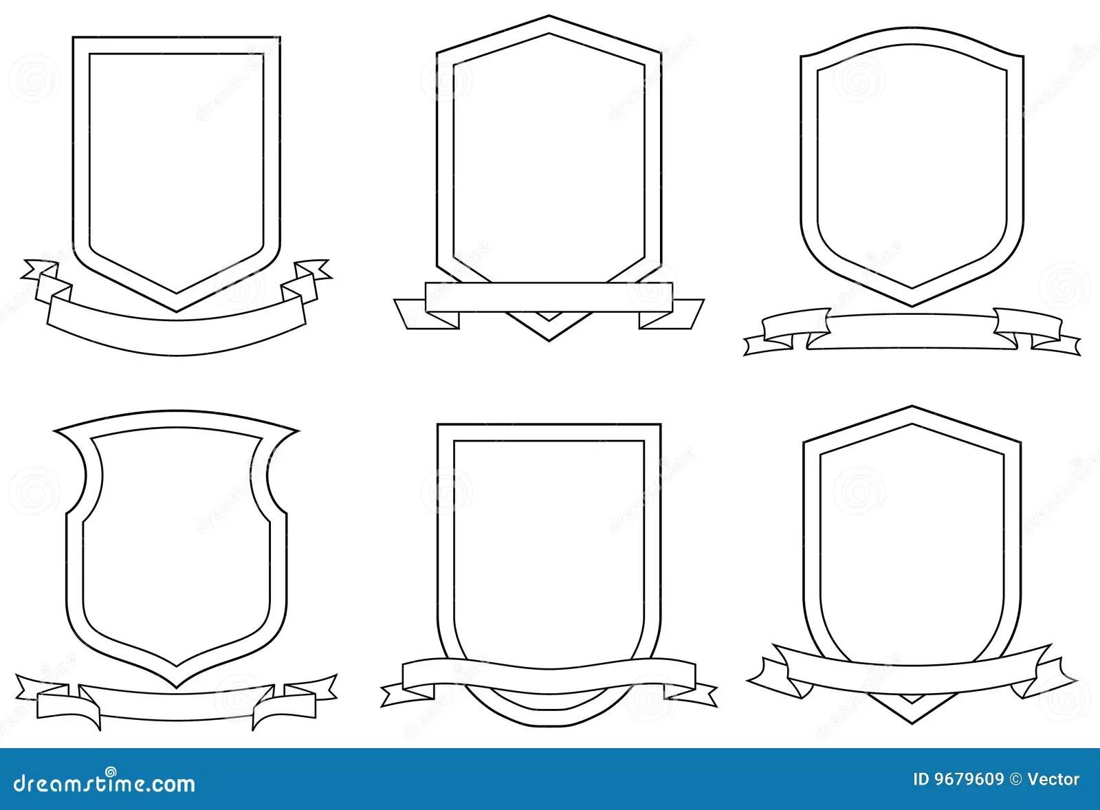 Set Wappen Vektor Lizenzfreie Stockbilder