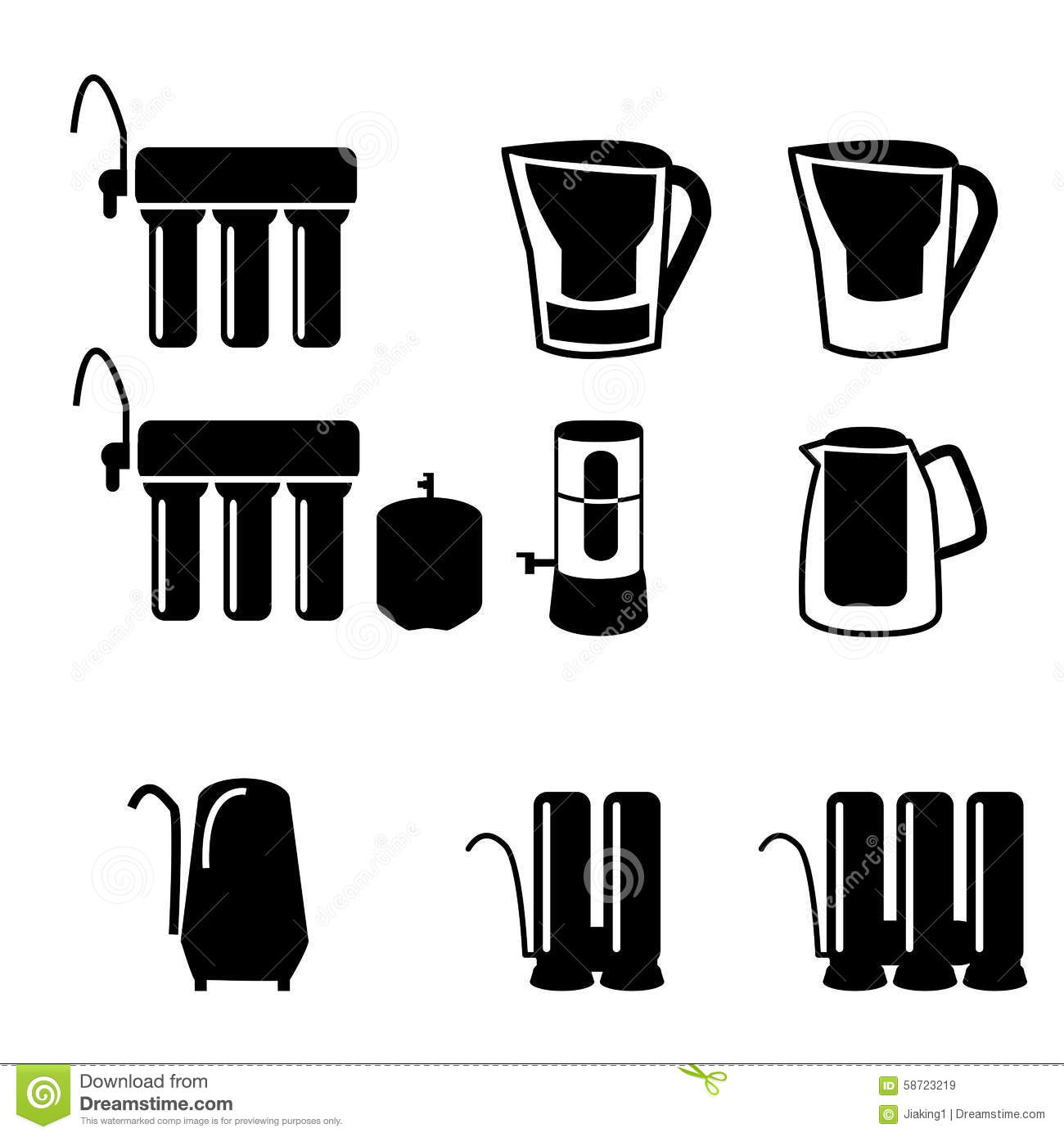 Water Pipe Icon Flat Style Vector Illustration