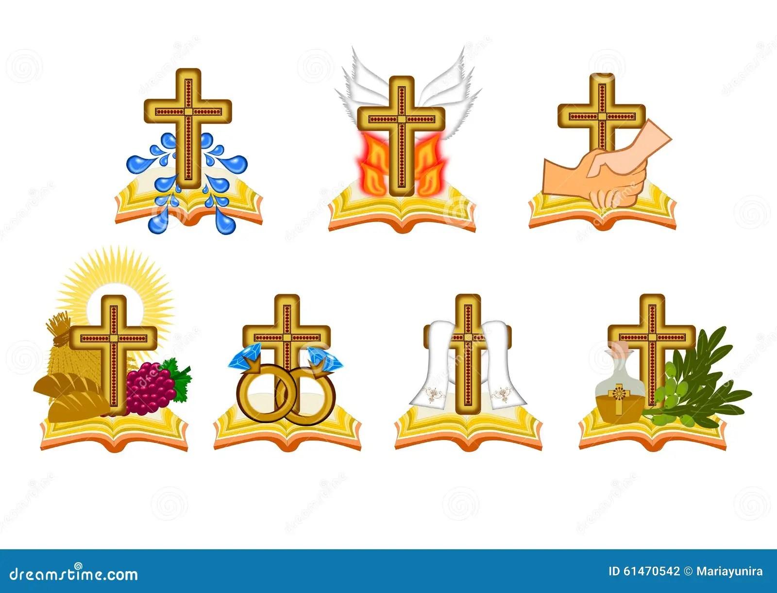 The Seven Sacraments Stock Illustration