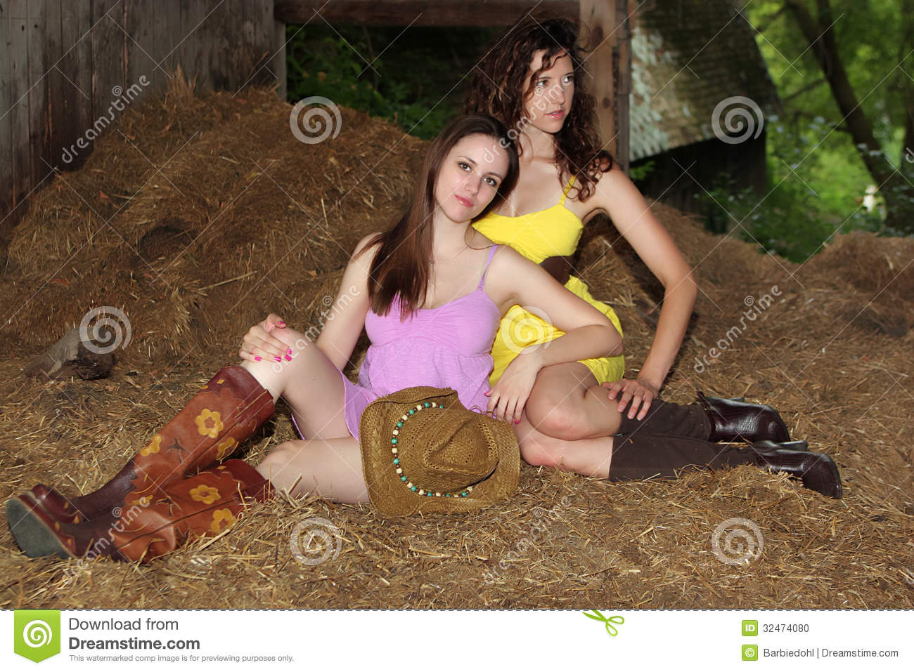 Country Girls Stock Photo