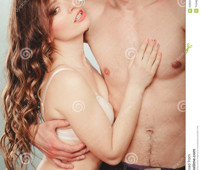 Half Naked Man And Woman In Lingerie