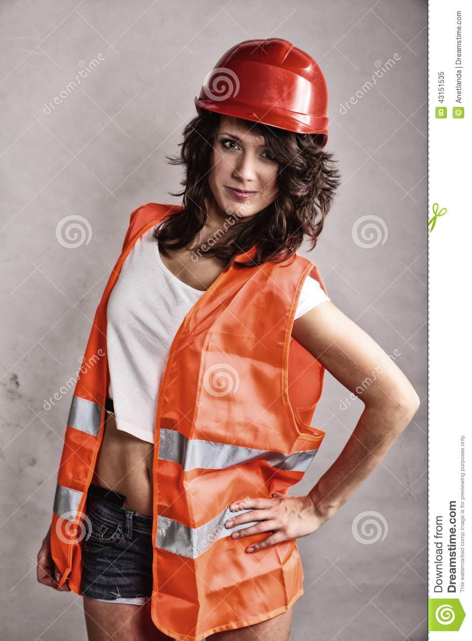 Construction Flagger Worker Female