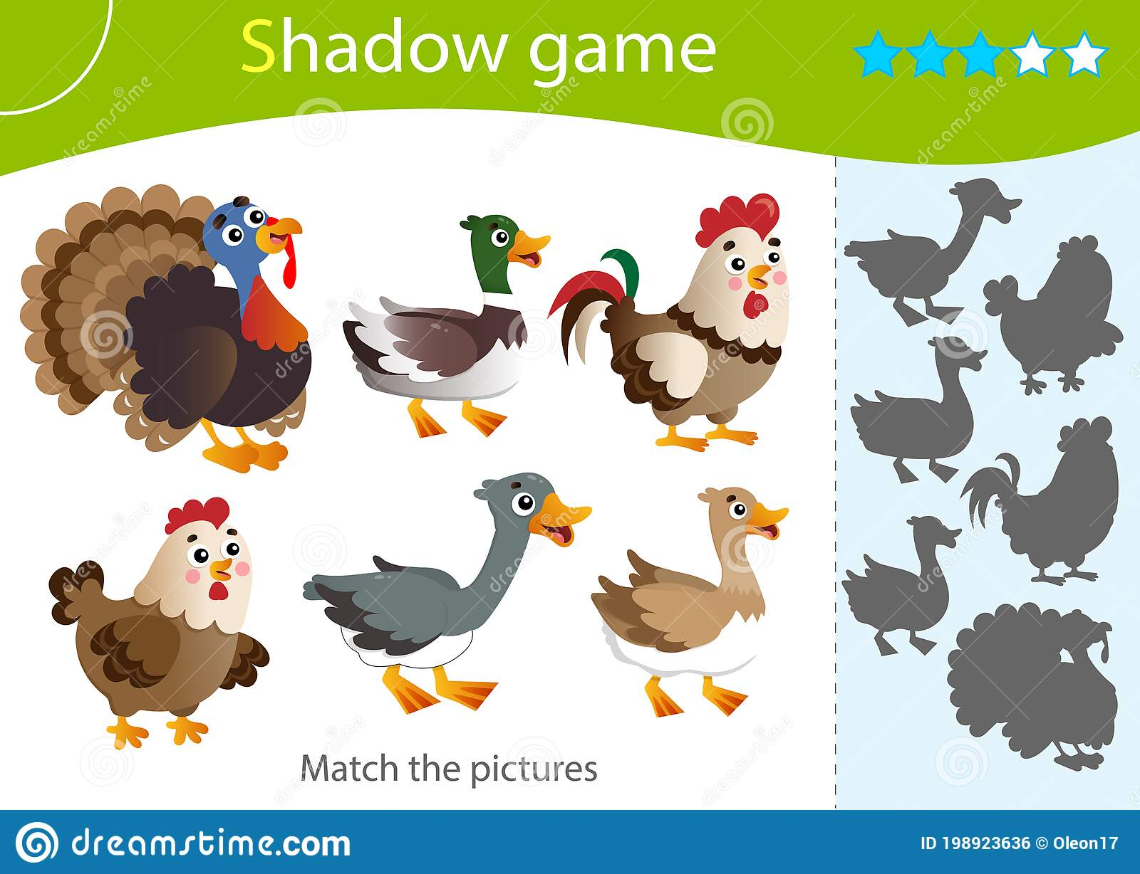 Shadow Game For Kids Match The Right Shadow Color Images